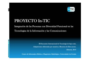 PROYECTO In-TIC - CRMF Albacete