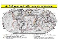 Deformazioni della crosta continentale
