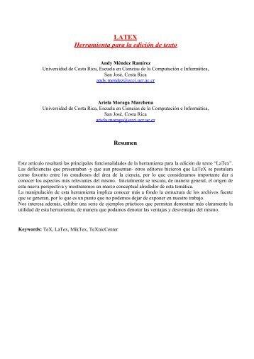 LATEX Herramienta para la edición de texto - Di-Mare.com