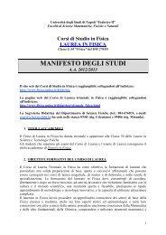 Manifesto degli studi (A.A. 2012/13) - Dipartimento di Fisica