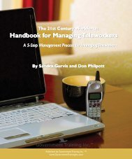 Handbook For Managing Teleworkers - Government Training Inc.