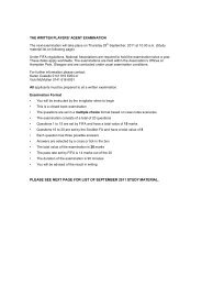 please see next page for list of september 2011 study material.