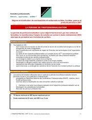 La période de professionnalisation - Agefos PME