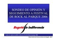 sondeo de opinión y seguimiento a festival de rock al parque 2006