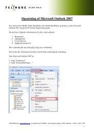 Opsætning af Microsoft Outlook 2007 - Telmore