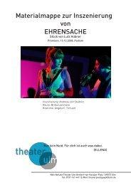 Materialmappe zur Inszenierung von EHRENSACHE - Theater Ulm