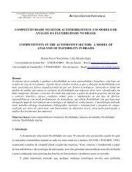 competitividade no setor automobilístico: um modelo de ... - UTFPR