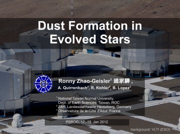 Dust Formation in Evolved Stars