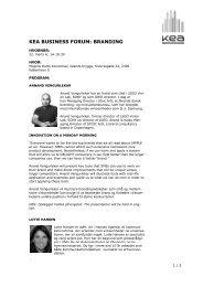 KEA BUSINESS FORUM: BRANDING