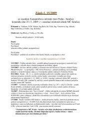 Zápis č. 15/2009 ze zasedání Zastupitelstva MČ Praha-Satalice ...