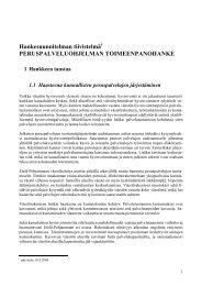 Hankesuunnitelman tiivistelmä - Etelä-Pohjanmaan liitto