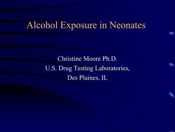 Alcohol Exposure in Neonates