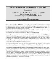 HEP-VD : Réflexions sur la situation en août 2004 - Société ...