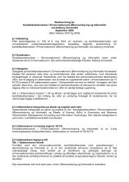 Studieordning for - Det Samfundsvidenskabelige Fakultet - Aalborg ...