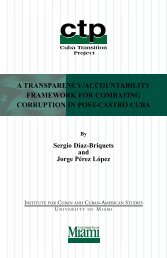 a transparency/accountability framework for combating corruption in ...