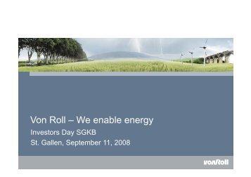 Von Roll – We enable energy