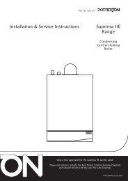 Installation & Service Instructions Suprima HE Range - BHL.co.uk