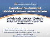 Outcome - 21 ASL (Maurizio Gomma) - Dipartimento per le politiche ...