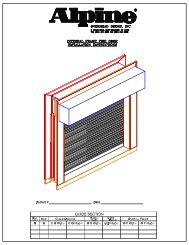Integral Frame Fire Shutter - Alpine Overhead Doors