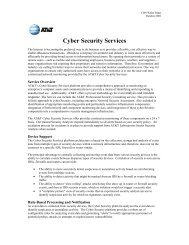 Cyber Defense Solution: - AT&T