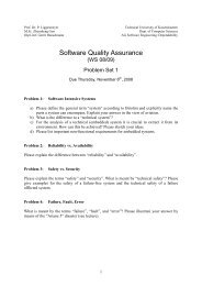 Software Quality Assurance - Software Engineering: Dependability