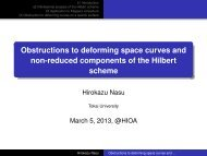 Obstructions to deforming space curves and non-reduced ...