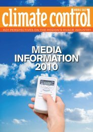 Media inforMation 2010 - Climate Control Middle East