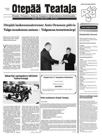 Otepää Teataja nr. 5, 15.03.2013 - Otepää vald