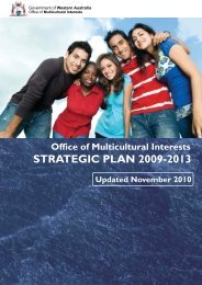 Strategic Plan 2009-2013 - Office of Multicultural Interests