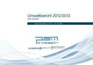 Umweltbericht 2012/13 - psm protech GmbH & Co. KG
