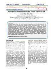 a systematic review on medicinal plants used to treat ... - ijpcbs
