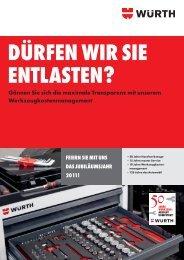 Werkzeugkostenmanagement - Würth