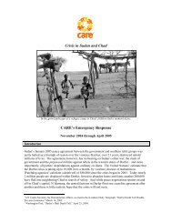 Crisis in Sudan and Chad