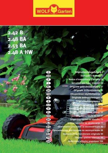 2.42 B 2.48 BA 2.53 BA 2.48 A HW 2.42 B 2.48 ... - WOLF-Garten NL