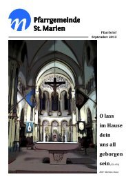 Pfarrbrief September 2013 - Kath. Kirchengemeinde St. Marien ...