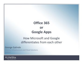 Office 365 or Google Apps - Interface Tech Blog