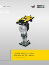 Original performance and efficiency by the inventor. - Wacker Neuson