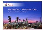 Bilan 2012 présenté par Total - DREAL des Pays de la Loire