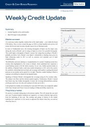 Weekly Credit Update - Danske Analyse - Danske Bank