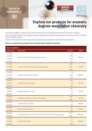 Aromatic Deproto-Metallation (PDF only) - Acros Organics