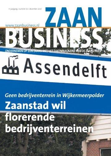 Zaanstad wil florerende bedrijventerreinen - Zaanbusiness