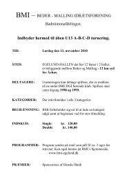 Indbyder hermed til åben U13 ABCD turnering. TID - Beder-Malling ...