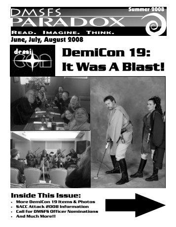 Summer 2008 Newsletter PDF - Paradox - Des Moines Science ...
