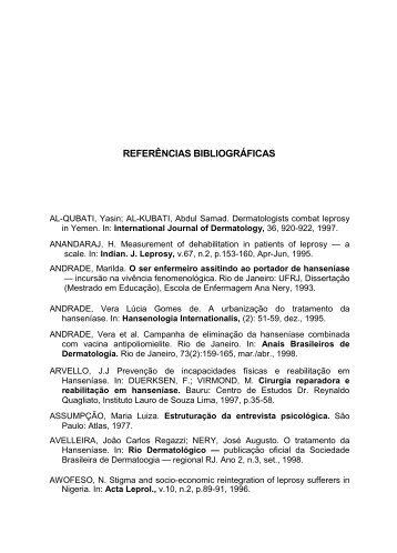 REFERÊNCIAS BIBLIOGRÁFICAS - Instituto Lauro de Souza Lima