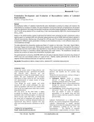 Formulation Development and Evaluation of Buccoadhesive tablets ...