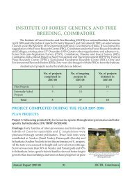 institute of forest genetics and tree breeding, coimbatore - ICFRE