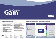 Areas of Application The All-in-One Solution for Data Management
