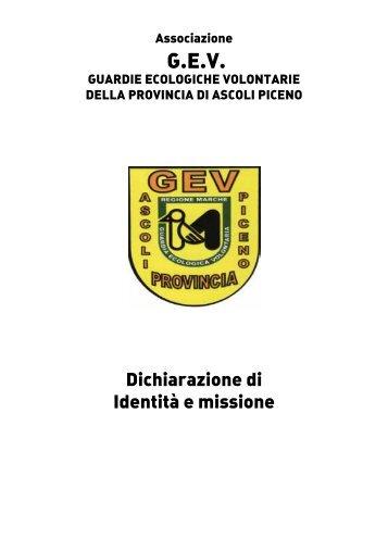 GEV Ascoli Piceno - Dichiarazione di identita e ... - CSV Marche