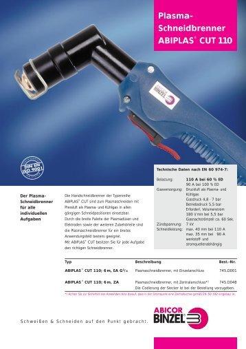 Plasma- Schneidbrenner ABIPLAS® CUT 110