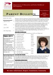 Bulletin 1 - Drouin Secondary College